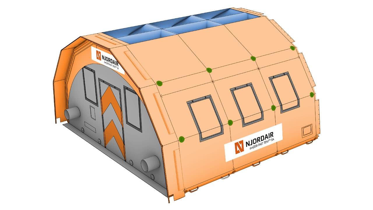6m fast tent module